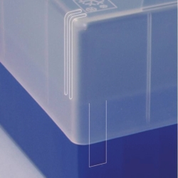 Search Ratiolab GmbH (8926)-Cryogenic boxes, slip lid with adaptable height, PP, 133 x 133