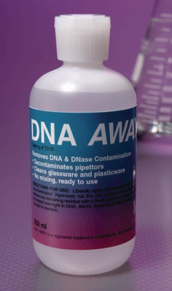 Oppervlaktedecontaminatiemiddel DNA Away® WWW-Interface