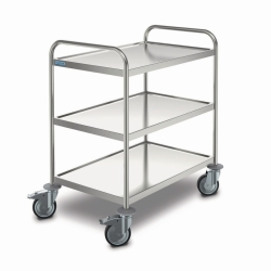 Transport trolley, stainless steel LLG WWW-Catalog