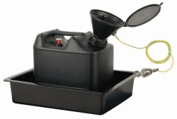 Waste Disposal Unit Set, PE-HD, Electrostatic Conductive LLG WWW-Catalog