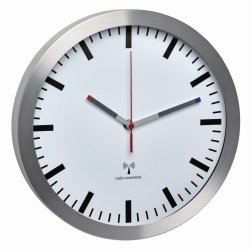 Radio controlled wall clock, scale without numbers LLG WWW-Catalog