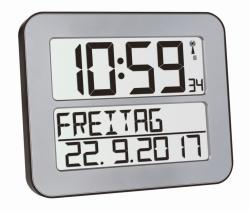 Radio controlled wall clock TimeLine Max with digital display LLG WWW-Catalog