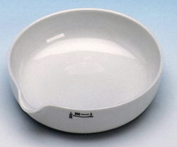 Evaporating basins, porcelain, shallow form LLG WWW-Catalog