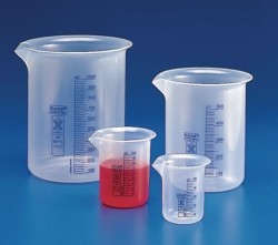 Beakers, low form, plastic LLG WWW-Catalog