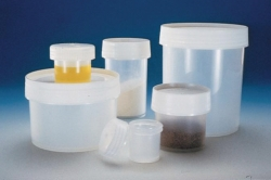 Jars with screw cap, PP