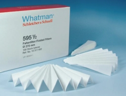 Qualitative filter paper, Grade 595 1/2,  folded filters LLG WWW-Catalog