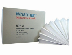 Qualitative filter paper, Grade 597 1/2,  folded filters LLG WWW-Catalog
