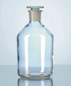 Narrow-mouth reagent bottles with stopper, soda-lime glass LLG WWW-Catalog