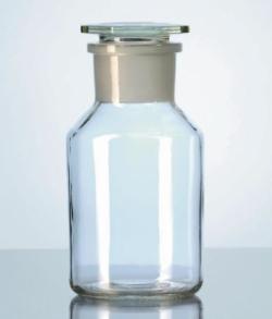Steilbrust-Weithalsstandflaschen, Kalk-Soda-Glas, mit NS-Schliff LLG WWW-Katalog