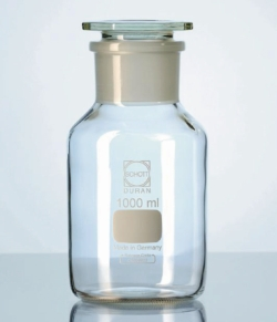 Wide-mouth reagent bottles with stopper, DURAN® LLG WWW-Catalog