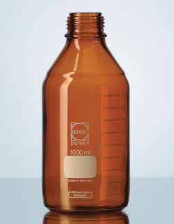 Laboratory bottles, DURAN® amber, with retrace code LLG WWW-Catalog