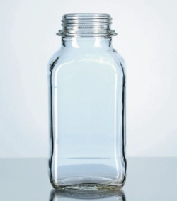 Square, screw cap bottles, wide-mouth, soda-lime glass LLG WWW-Catalog