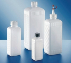 Square bottles, PE-HD and PVC, series 310 LLG WWW-Catalog