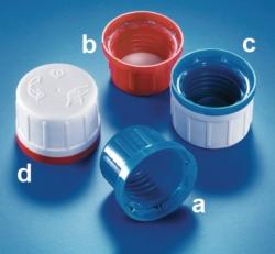 Garantie-schroefdoppen voor vierkante reagentiaflessen WWW-Interface