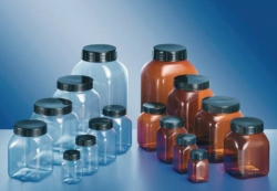 Square, wide-mouth containers, series 310, PVC LLG WWW-Catalog