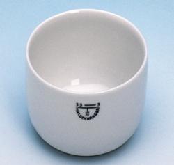 Glühschälchen, Porzellan, zylindrische Form LLG WWW-Katalog