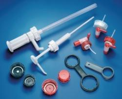 Schraubverschlüsse, Schlüssel und Dosierpumpen für Kanister, PE-HD LLG WWW-Katalog
