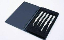Kit de 5 pinces brucelle haute précision, en acier inox WWW-Interface