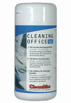 Pulizia in ufficio, tessuto per pulizia tecnica con alcool WWW-Interface