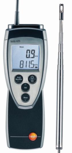 Strömungsmessgerät / thermisches Anemometer testo 425 LLG WWW-Katalog
