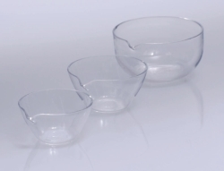 Evaporating basins, Quartz glass LLG WWW-Catalog