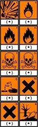 Pictogrammes autocollants produits dangereux WWW-Interface