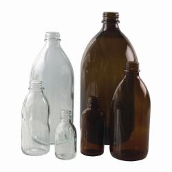 Narrow-mouth bottles, soda-lime glass LLG WWW-Catalog