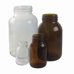 Wide-mouth bottles, soda-lime glass LLG WWW-Catalog