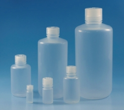Narrow-mouth bottles with screw cap Type 2006, PP LLG WWW-Catalog