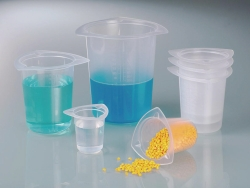 Universal Beaker, PP, with spout LLG WWW-Catalog