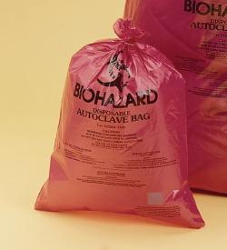 Vernichtungsbeutel, Biohazard, extra stark, 50µm LLG WWW-Katalog