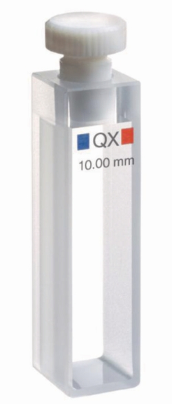 Macro cells for absorption measurement, NIR-range, quartz glass Extended Range