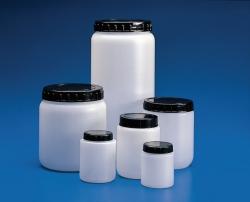Pots cylindriques avec bouchon, HDPE