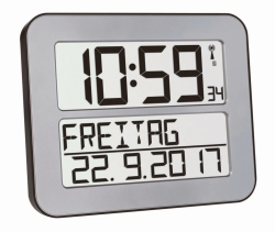 Radio controlled wall clock TimeLine Max with digital display