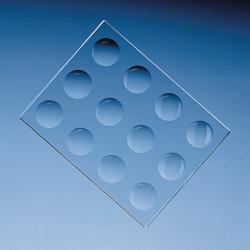 Plaques de coloration, verre sodocalcique