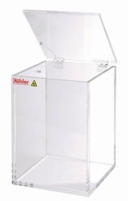 Beta-Abfallentsorgungsbox aus Acrylglas