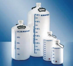 Aspirator bottles, series 350, PE-HD