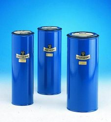 Dewar flasks, cylindrical, for CO2 and LN2