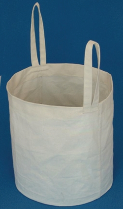 Linen carrier bag for large Dewar vessels
