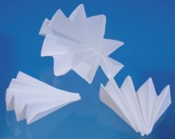 Papel de filtro para análisis cualitativos, plegado