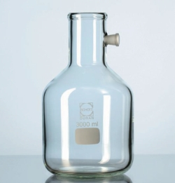 Fiole à filtration avec prise de vide latérale, en verre DURAN®