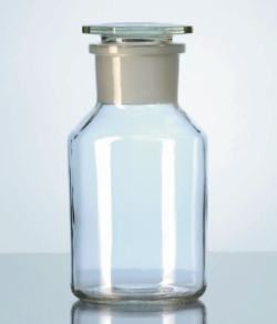 Wide-mouth reagent bottles, soda-lime glass