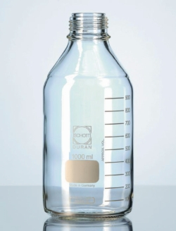 Laboratory bottles, DURAN<SUP>&reg;</SUP>, with retrace code, without screw cap