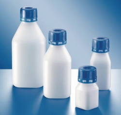 """Narrow-mouth reagent bottles, series 310 """"Safe Grip"""", HDPE"""