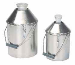Safety transport containers made of stainless steel