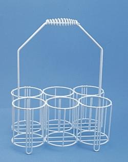 Panier porte-flacons en fil métallique revêtu de PE