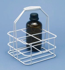 Bottle carriers, wire/plastic coated