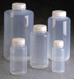 Wide-mouth bottles Nalgene™, FEP, with screw cap, ETFE