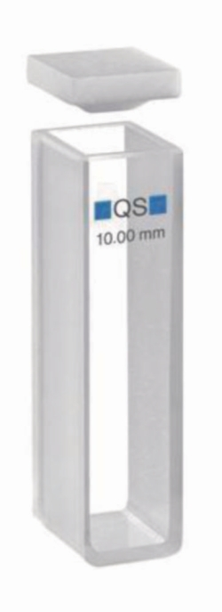 Macro cells for absorption measurement, UV-range, quartz glass High Performance