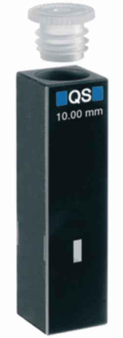 Ultra micro cells for absorption measurement, UV-range, quartz glass High Performance